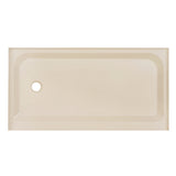 Voltaire 60 x 32 Single-Threshold, Left-Hand Drain, Shower Base in Biscuit