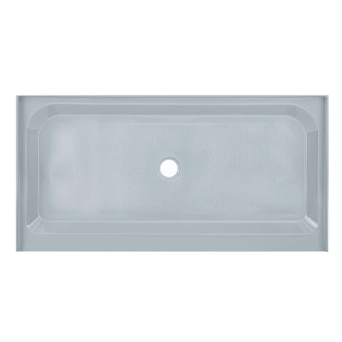 Voltaire 60 x 30 Single-Threshold, Center Drain, Shower Base in Grey