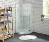 "Voltaire 36"" X 36"" Center Drain, Neo-Angle Shower Base"