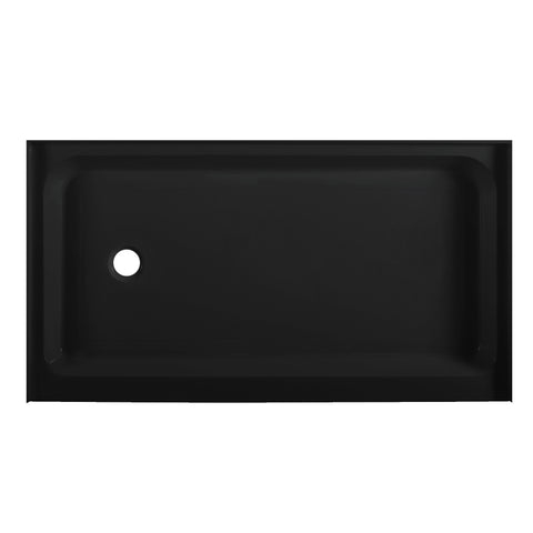 "Voltaire 60"" X 36"" Left-Hand Drain, Shower Base in Black"