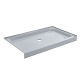Voltaire 60 x 36 Single-Threshold, Center Drain, Shower Base in Grey