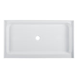 "Voltaire 60"" X 36"" Center Drain, Shower Base"