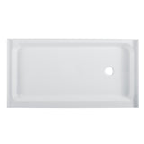 "Voltaire 60"" x 34"" Acrylic White, Right Side Drain, Shower Base"