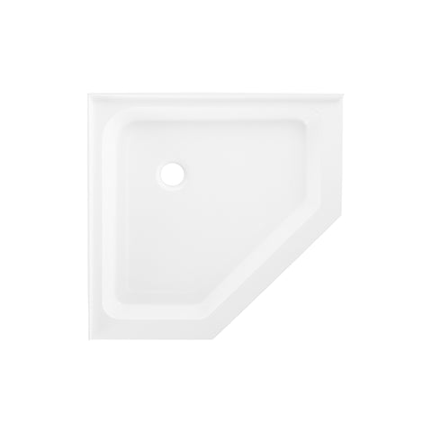 "Voltaire 42"" X 42"" Center Drain, Neo-Angle Shower Base"