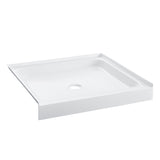 "Voltaire 42"" x 42"" Acrylic White, Center Drain, Shower Base"