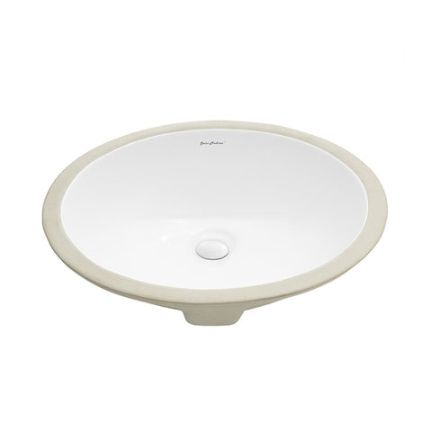 "Monaco 19"" Oval Undermount Bathroom Sink"