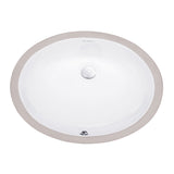 "Monaco 19.5"" Oval Undermount Bathroom Sink"
