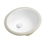 "Monaco 16.5"" Oval Undermount Bathroom Sink"