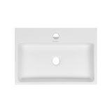 "Claire 20"" Rectangle Ceramic Vessel Sink"