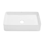 "Concorde 24"" Rectangle Ceramic Vessel Sink"
