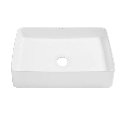 "Concorde 20"" Rectangle Vessel Bathroom Sink"