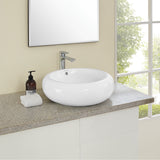 "Plaisir 20"" Round Vessel Bathroom Sink"