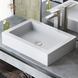 "Voltaire 22"" Rectangle Vessel Bathroom Sink"