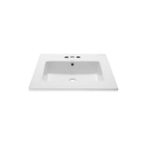 "Voltaire 25"" Vanity Top Sink with 4"" Centerset Faucet Holes"
