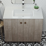 "Voltaire 37"" Vanity Top Sink with Single Faucet Hole"