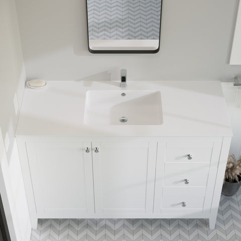"Voltaire 49"" Vanity Top Sink with Single Faucet Hole"