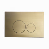 Wall Mount Actuator Flush Push Button Plate in Brushed Brass
