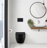 Wall Mount Actuator Flush Push Button Plate with Square Buttons in Matte Black