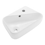 "Plaisir 18"" Right Side Faucet Wall-Mount Bathroom Sink"