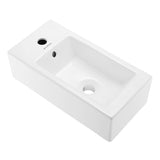 "Voltaire 19.5"" Left Side Faucet Wall-Mount Bathroom Sink"