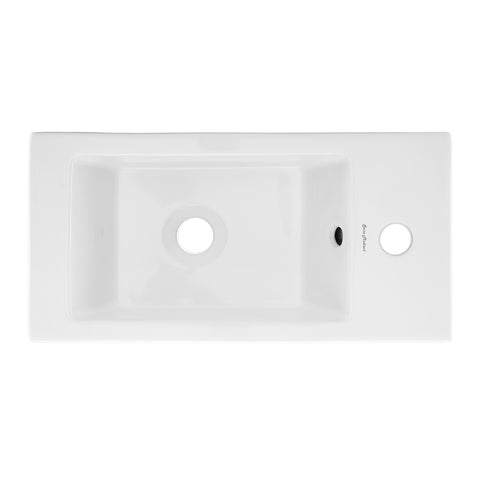 "Voltaire 19.5"" Right Side Faucet Wall-Mount Bathroom Sink"