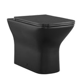 Carré Back-to-Wall Elongated Toilet Bowl in Matte Black