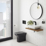 Carre Back to Wall Toilet Bowl 0.8/1.28 GPF Dual Flush in Matte Black