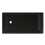 "Voltaire 60"" X 32"" Left-Hand Drain, Shower Base in Black"