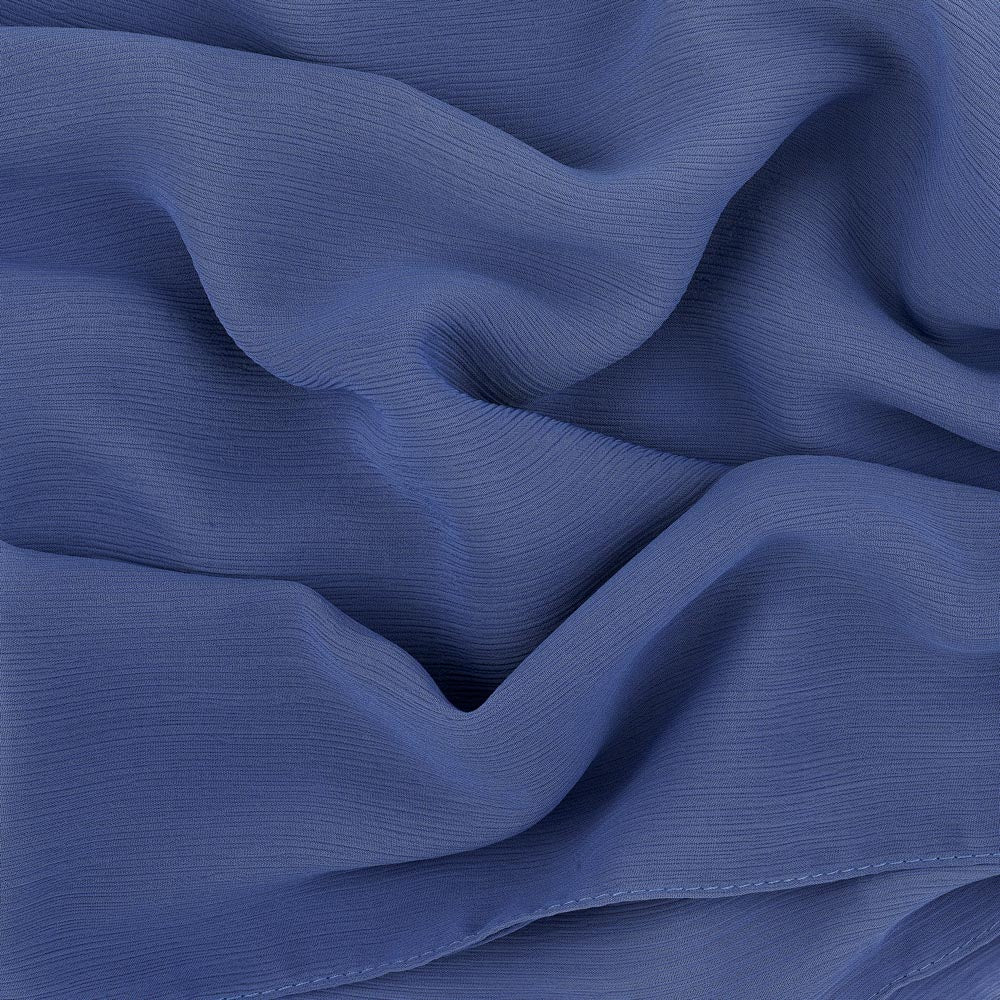 Blue Smoke Crinkled Georgette Hijab