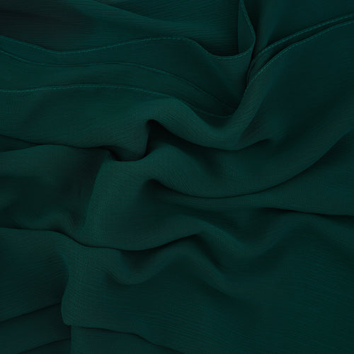 Forest Green Crinkled Georgette Hijab