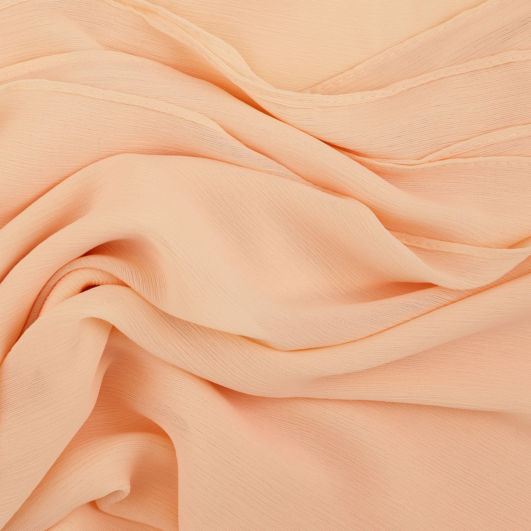 Pale Peach Crinkled Georgette Hijab