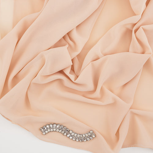 Cream Diamonte Hijab