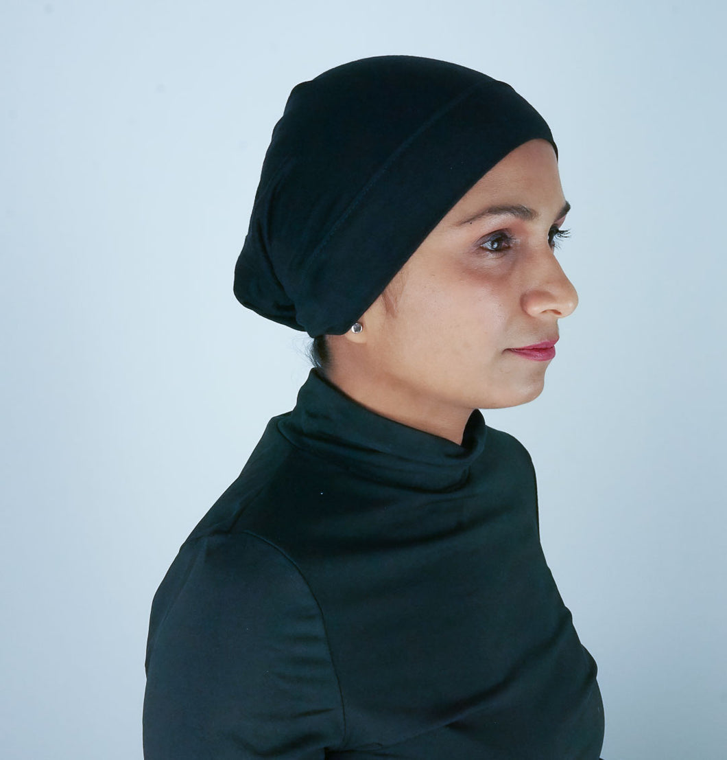 Black Hijab Tube Cap