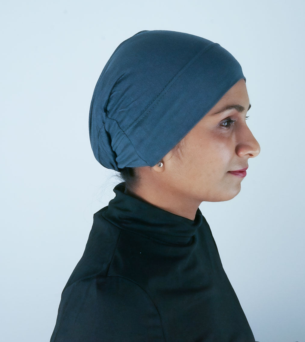 Grey Hijab Tube Cap