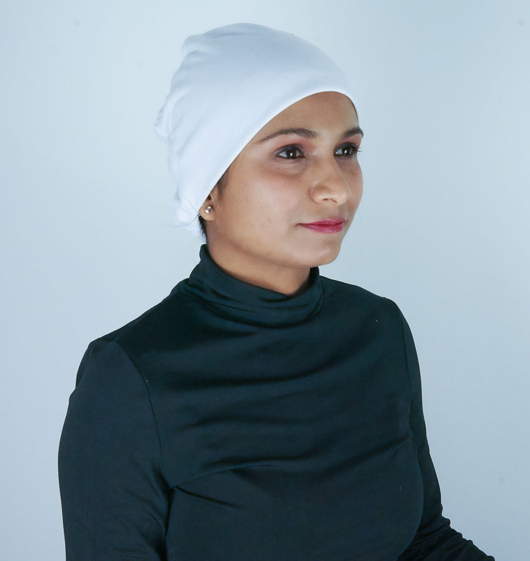 White Hijab Tube Cap