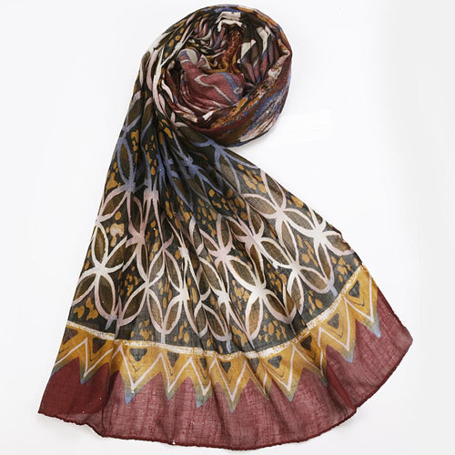 Multi Color Abstract Print Hijab