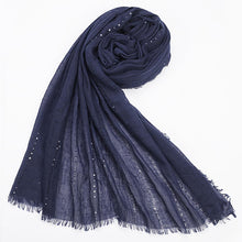 Dark Blue Hijab with Sequence