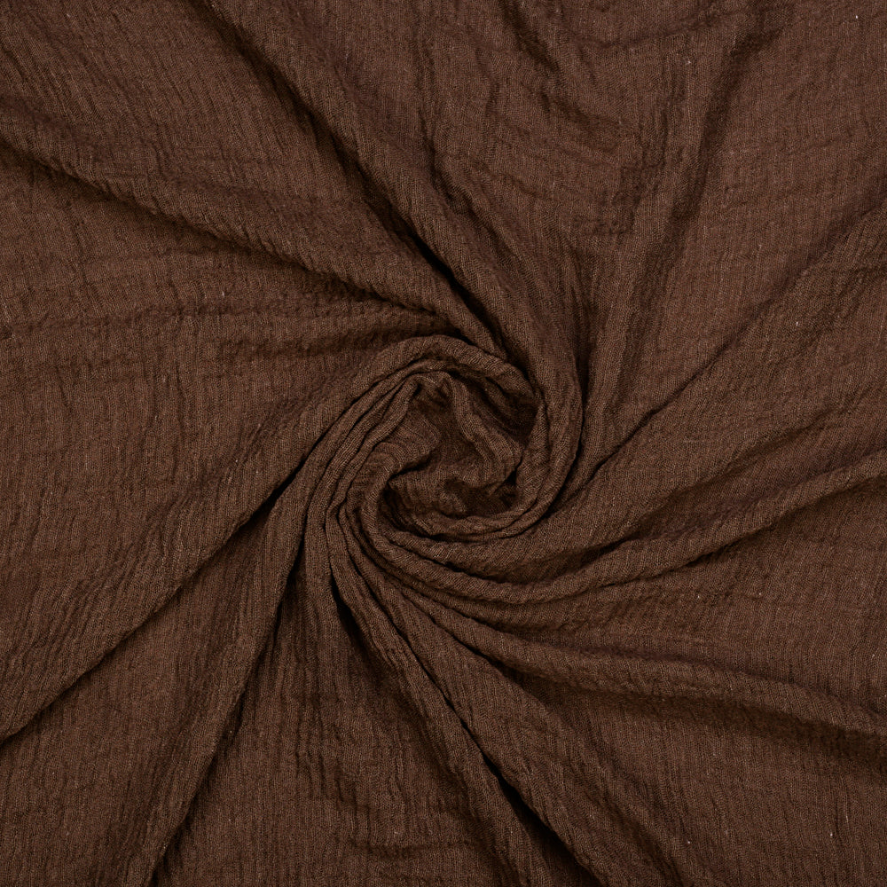 Crinkled Dark Brown Hijab