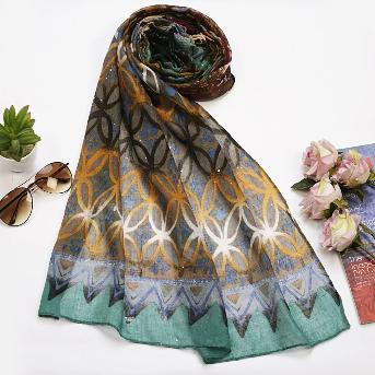 Multi Colour Abstract Printed Hijab