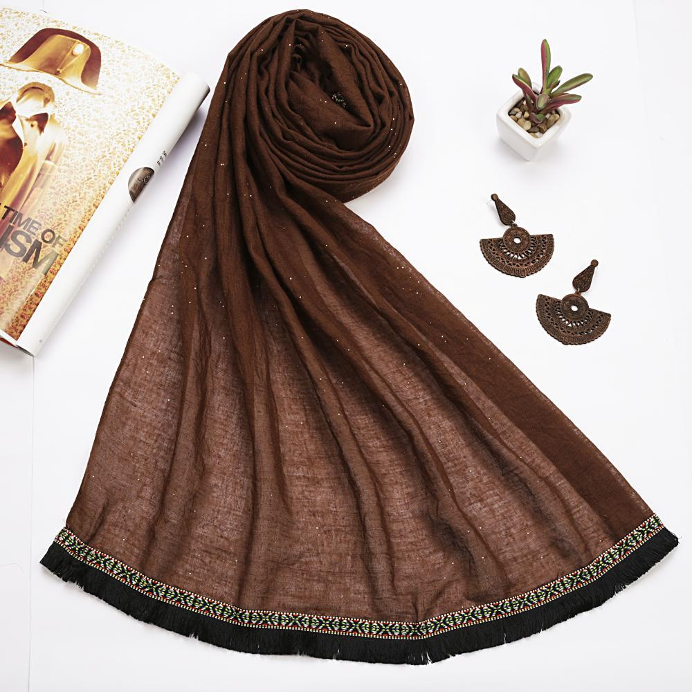 Bohemian Lace Brown Hijab