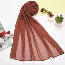 Red Brick Plain Hijab