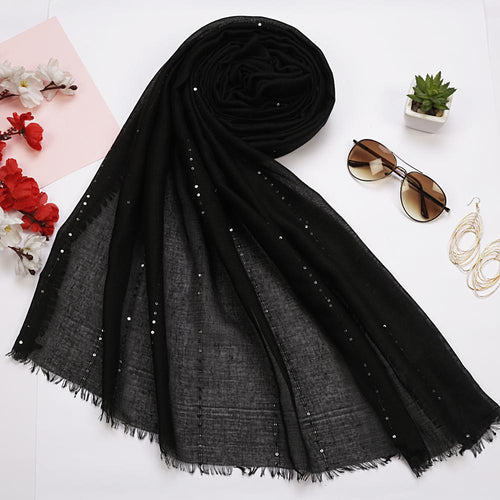 Sequenced Black Hijab