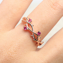Rose Gold Plated Floral Ring Crystal Zirconia Ladies Rings