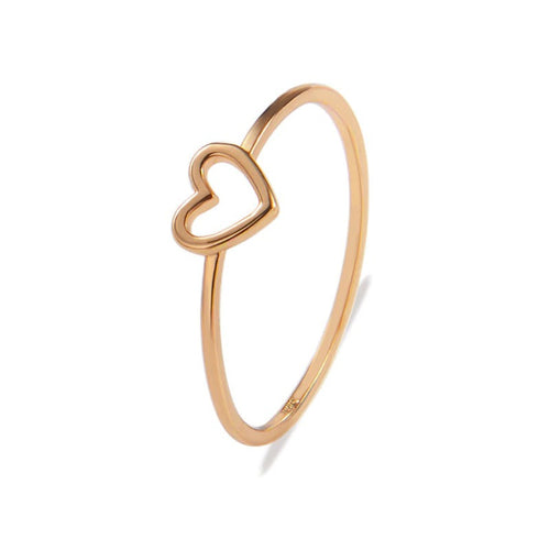 New Fashion Heart Women Rings Rose Gold Color Wedding Ring Female Silver Finger Rings
