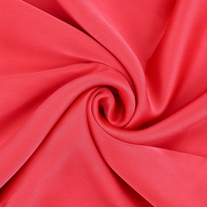 Luxe Red Coral Touch Silk Hijab