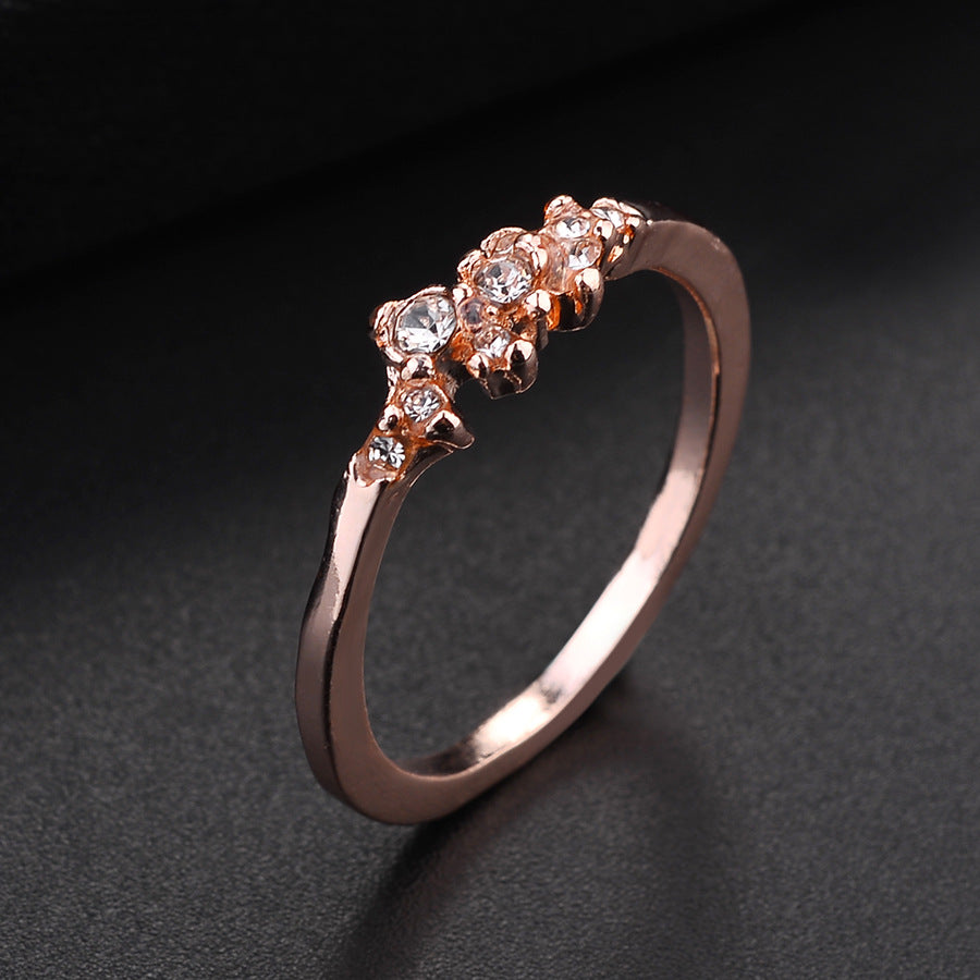 Vintage Wedding Ring - Rose Gold Engagement Ring
