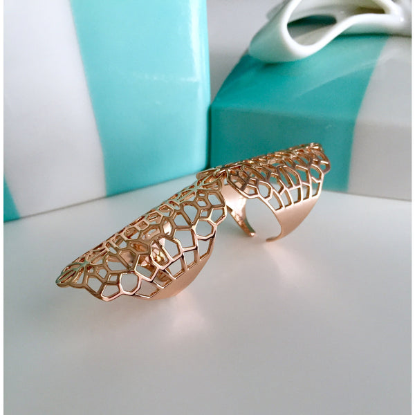 Rose Gold Cocktail Statement Ring - Vibe Jewelry