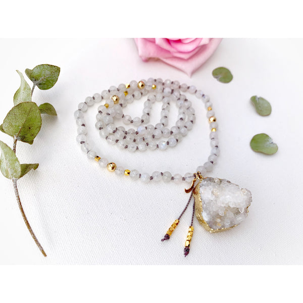Empower Moon Goddess Mala Necklace - Vibe Jewelry