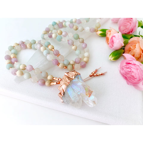 Serenity Moon Goddess Mala Necklace - Vibe Jewelry