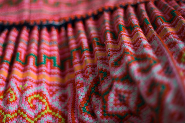 Embroidered hill tribe fabric | Thailand